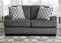 Ashley Locklin Loveseat in Carbon