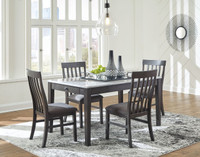 New Arrival - Ashley Luvoni Dining Table in Charcoal