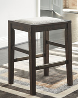 Hallishaw Upholstered Bar Stool in Dark Brown