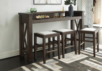New Arrival - Ashley Hallishaw Bar Height Table in Dark Brown