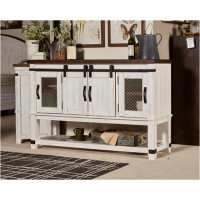 New Arrival - Ashley Valebeck Dining Room Server in White and Brown