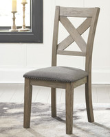 New Arrival - Ashley Aldwin Upholstered Side Chair in Gray