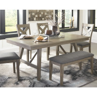 New Arrival - Ashley Aldwin Rectangular Dining Table in Gray