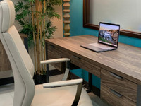 """New Arrival - Active Home Centre 0B048FH 60"""" Desk in Aged Walnut"""