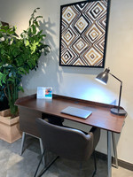 """Active Home Centre 51"""" Computer Table in Brown and Silver Gray"""
