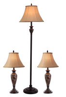 Active Home Centre Set of 3 Table Lamps (27IL-8841KIT)