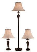Active Home Centre Set of 3 Table Lamps (27IL-8842KIT)