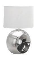 Active Home Centre Ceramic Table Lamp in Silver (27IL-9022T-SIL)