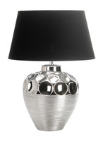Active Home Centre Ceramic Table Lamp in Silver (27IL-9027T-SIL)