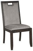 New Arrival - Ashley Hyndell Upholstered Side Chair in Dark Brown