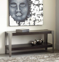 Ashley Geriville Sofa Console Table in Brown