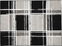 "New Arrival - Ashley Ramy 5'3"" x 7' Medium Rug in Black, White and Grey"