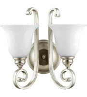 New Arrival - Quorum Bryant 2 Light Wall Sconce in Aged Silver Leaf (30QU-5454-2-60)