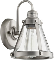 New Arrival - Quorum Signature 1 Light Wall Sconce in Antique Silver (30QU-587-1-92)