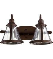 New Arrival - Quorum Signature 2 Light Vanity Wall Sconce in Oiled Bronze (30QU-587-2-86)