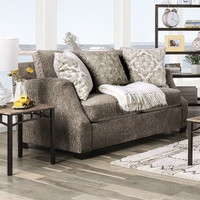New Arrival - Furniture of America Laila Loveseat in Grey (25FA-SM3082-LV)