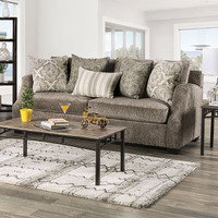 New Arrival - Furniture of America Laila Sofa in Grey (25FA-SM3082-SF)