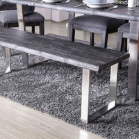 Furniture of America Mandy Wooden Bench in Grey (25FA-CM3451GY-BN)