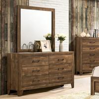 New Arrival - Furniture of America Wentworth Dresser in Walnut (25FA-CM7912D)