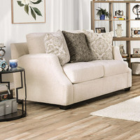 New Arrival - Furniture of America Laila Love Seat in Ivory (25FA-SM3083-LV)