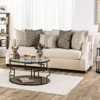 New Arrival - Furniture of America Laila Sofa in Ivory (25FA-SM3083-SF)