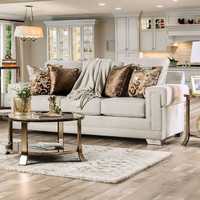 New Arrival - Furniture of America Kiana Sofa in Light Grey (25FA-SM6437-SF)
