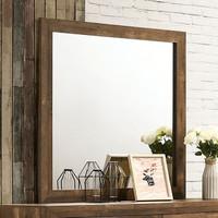 New Arrival - Furniture of America Wentworth Mirror in Walnut (32FA-CM7912M)