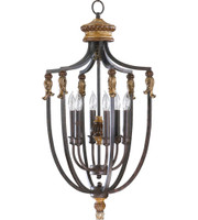 New Arrival - Quorum Capella 6 Light Entry Pendant in Toasted Sienna (30QU-6701-6-44)