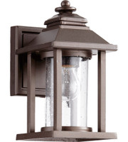 New Arrival - Quorum Crusoe 1 Light Outdoor Wall Lantern in Oiled Bronze (30QU-7270-86)