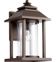New Arrival - Quorum Crusoe 1 Light Outdoor Wall Lantern in Oiled Bronze (30QU-7272-86)