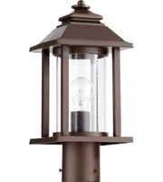 New Arrival - Quorum Crusoe 1 Light Outdoor Post Lantern in Oiled Bronze (30QU-7274-86)