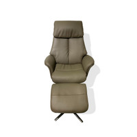 New Arrival - Active Home Centre Recliner with Ottoman in Dark Grey (25CM-CM79504AF)
