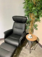 Active Home Centre Recliner Chair with Ottoman in Black (25CM-CM79446AO)