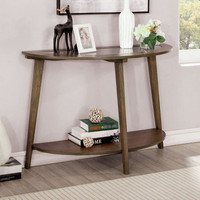 New Arrival - Furniture of America Uriel Round Sofa Table in Oak
