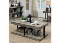 New Arrival - Furniture of America Tual Coffee Table in Antique Gray