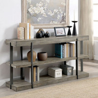 New Arrival - Furniture of America Tual Sofa Table in Antique Gray