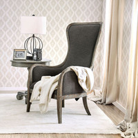 New Arrival - Furniture of America Charlottestown Accent Chair in Weathered Gray