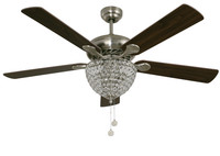 """New Arrival - Active Home Centre 52"""" Ceiling Fan in Satin Nickel (29LU-20276-41)"""