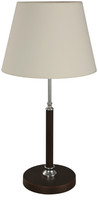 Active Home Centre 1 Light Table Lamp in Chrome and Wenge (27LU-21738-9)