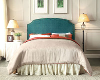 New Arrival - Furniture of America Hasselt Queen or Full Headboard in Teal