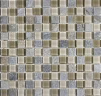 "Glass & Stone Mosaic Tile 12""x 12"" 11SEE-SHT60"