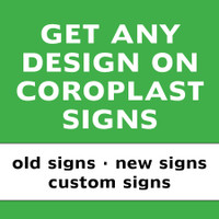 Two-sided 10-Pack Coroplast Life Chain Signs