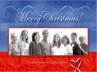 Customized Staff Picture Christmas Cards 118