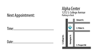 Value One-Sided Appointment  Card