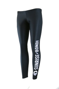 Signature Moisture Management Legging - Black (White)