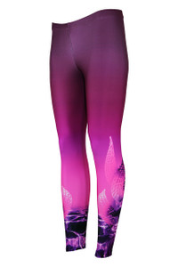 Underwater Magic  Moisture Management Legging - Dusk