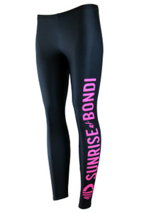 Signature Compression Legging - Black (Pink)