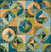 "Chamomile Quilt Pattern uses the 7"" Crazy Curves Template"