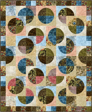 "Adalynn's Garden Quilt Pattern uses 7"" Crazy Curves Template"