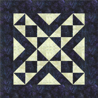 Easy Table Runner Quilt Pattern Using Two Fabrics And